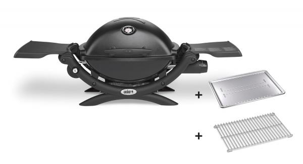 Weber Q1200 inkl. Hitzeschild und Bratenrost