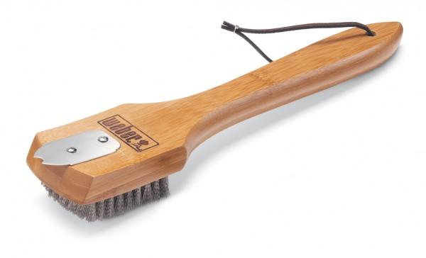 Weber Grillbürste mit Bambusholzgriff